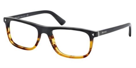 Prada PR 03RV Journal Eyeglasses TFJ1O1 Black