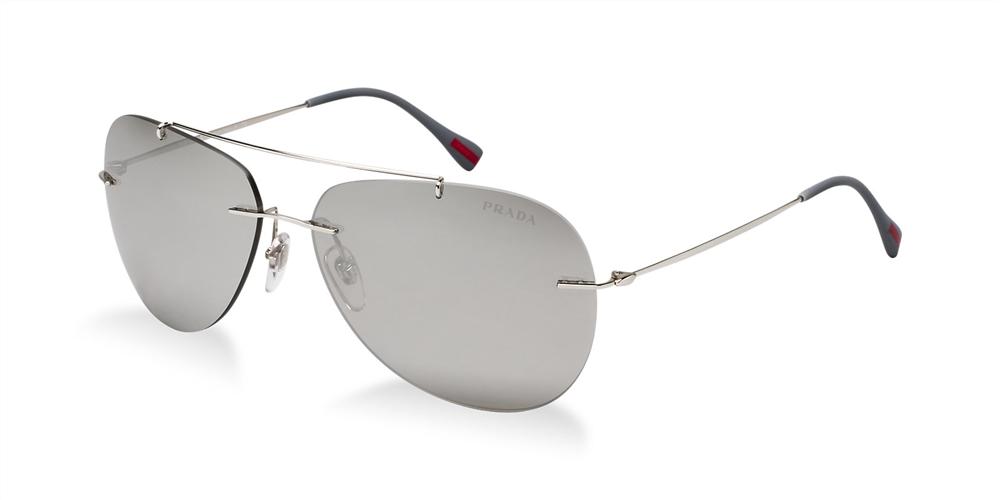 hand bags prada - Prada Linea Rossa PS50PS Red Feather Sunglasses 1BC2B0 Silver