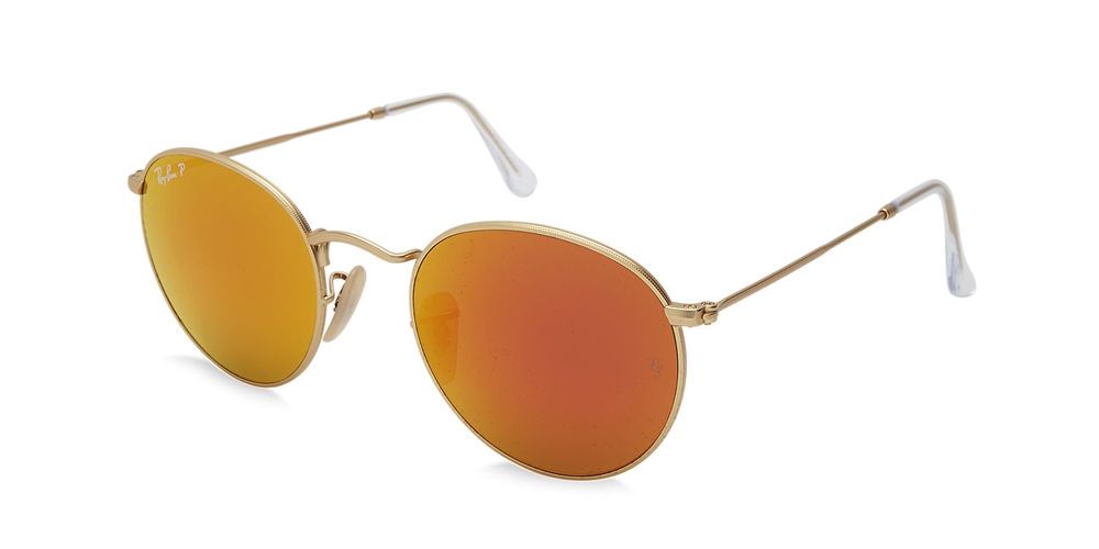 ray ban 3447 round metal sunglasses 112 4d gold. Black Bedroom Furniture Sets. Home Design Ideas