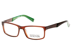 KENNETH COLE REACTION KC 0771 Eyeglasses 048 Shiny Dark Brown,