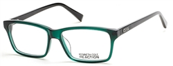 KENNETH COLE REACTION KC 0777 Eyeglasses 096 Shiny Dark Green
