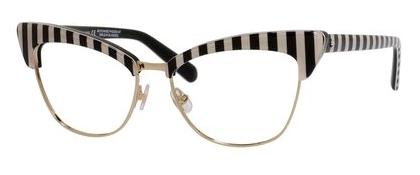 Designer Eyeglass Frames Kansas City : Kate Spade KS Janna Eyeglasses 0W97 Black