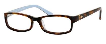 Designer Eyeglass Frames Kansas City : Kate Spade KS Narcisa Eyeglasses 0W71 Havana Blue