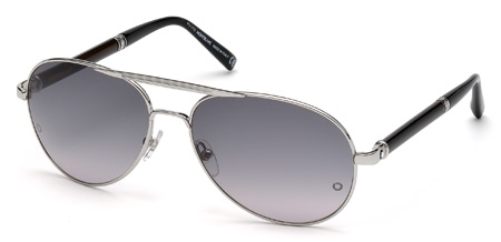 montblanc mb 458s sunglasses 16b shiny palladium
