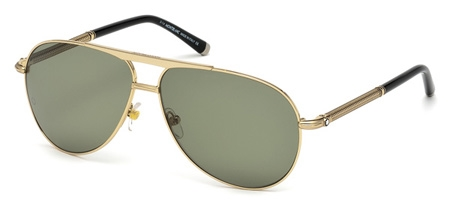 montblanc mb 517s sunglasses 28r shiny gold