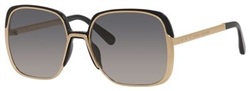 Marc Jacobs MJ 622 Sunglasses 0KSU Gold Black