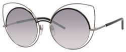 Marc Jacobs MJ Marc10 Sunglasses 025K Ruthenium / Shiny Black