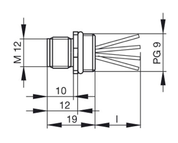 hirschmann elst 412 pg 9 sn connector
