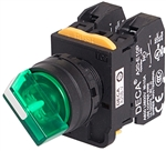 Deca A20F-2E01Q4G 22 mm Selector Switch, 2 Position, Green