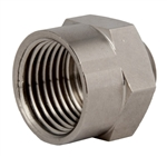 "Nickel Plated Brass PG 9 to 1/2"" NPT Adapter"