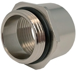 "Sealcon Nickel Plated Brass M20 to1/2"" NPT Adapter"