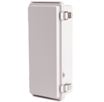 Boxco BC-AGP-112607 Hinged Lid Enclosure, Solid Gray, ABS Plastic
