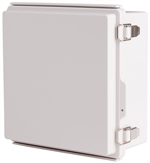 Boxco BC-AGP-212110 Hinged Lid Enclosure, Solid Gray, ABS Plastic