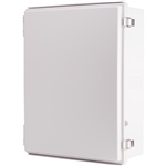 Boxco BC-AGP-405016 Hinged Lid Enclosure, Solid Gray, ABS Plastic