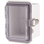 Boxco BC-ATP-091208 Hinged Lid Enclosure, Clear Cover, ABS Plastic