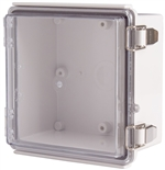 Boxco BC-ATP-151509 Hinged Lid Enclosure, Clear Cover, ABS Plastic