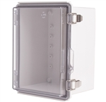 Boxco BC-ATP-162113 Hinged Lid Enclosure, Clear Cover, ABS Plastic