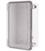 Boxco BC-ATP-172711 Hinged Lid Enclosure, Clear Cover, ABS Plastic