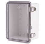 Boxco BC-CTP-131810 Hinged Lid Enclosure, Clear Cover, Polycarbonate