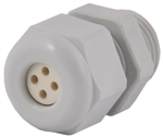 Gray Nylon Strain Relief Fitting CD09A8-GY