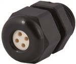 "CD09N1-BK Cable Gland with 3/8"" NPT Size Thread"