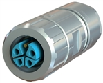 Sealcon M12 Connector, Female Straight, 4 Pin, 14-16 AWG