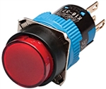 Kacon K16-271-R-12V 16 mm Push Button, Round, Red