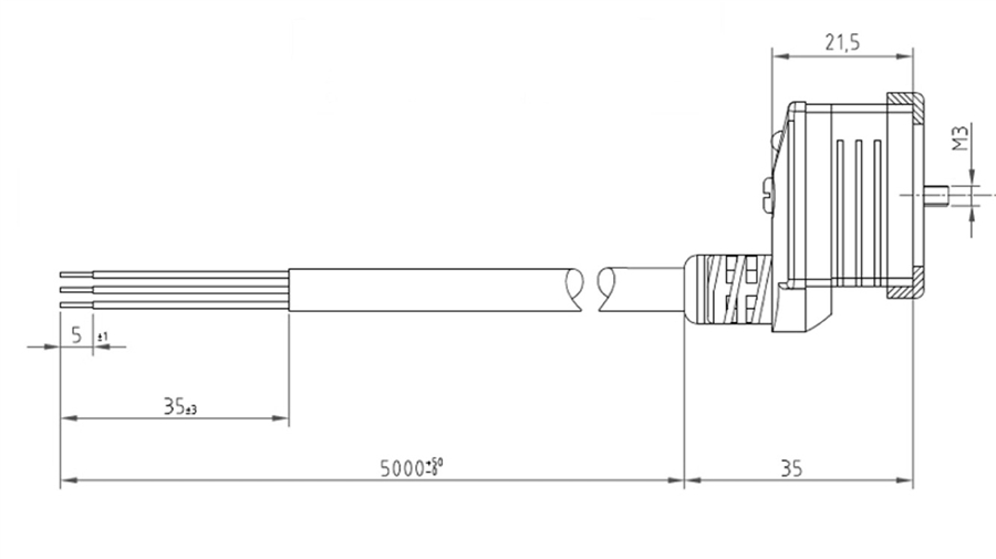 htp din 43650 form b molded top entry  110-120v
