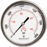 "DuraChoice PB404B-K06 Oil Filled Pressure Gauge, 4"" Dial"