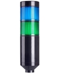 Menics PTE-A-202-BG-B 2 Tier LED Tower Light, Blue/Green