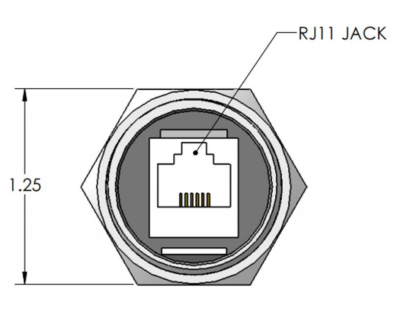 Mencom RJ11-M25 RJ11, M25 Port Adapter