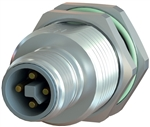 Sealcon M12 Connector, Male Rear Mount, 4 Pin, K & L Code