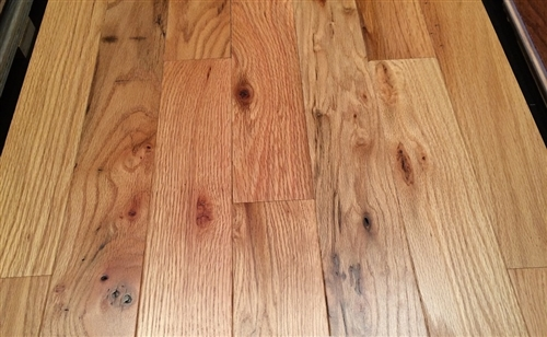 flooring tavern grade 2 1 4 x 3 4 solid pre finished red oak natural cabin grade 20 5