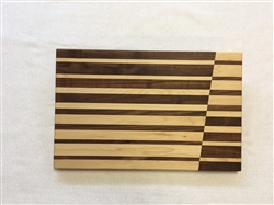 Reflection Stripes - Walnut & Maple