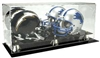 DELUXE ACRYLIC DOUBLE MINI HELMET DISPLAY CASE