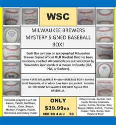WSC MYSTERY BASEBALL BOX - MILWAUKEE EDITION SERIES 2 - SOLD OUT!