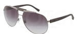 Dolce & Gabbana DG 2119 Over Molded Rubber Sunglasses 1186T3 Gunmetal,
