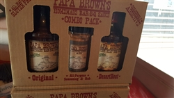 Papa Brown's Homemade Bar-B-Q Sauce - COMBO PACK