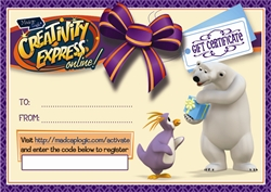 Creativity Express Gift Certificate & Furnace Plush Bundle