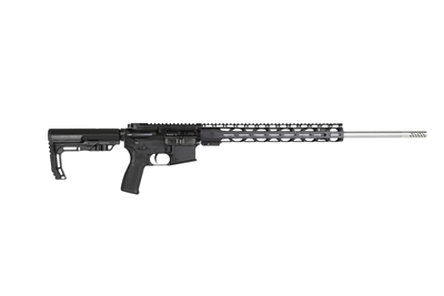 "RF Forged MilSpec Rifle 18"" 22 NOSLER SS Match, Medium Contour, 15"" RPR,  SOPMOD Stock, Pepper Pot Brake"