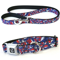 grateful dead steal your face dog collar and leash set