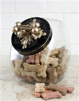 countertop couture dog treat jar