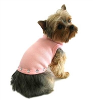 Doggie Design Pink Jewel Stud Dog Tank