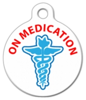 On medication medical alert dog id tag