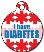 diabetic medical alert dog id tag