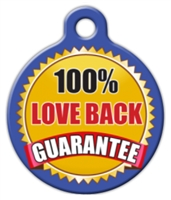 love back guarantee dog id tag