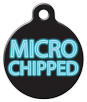 micro chipped medical alert dog id tag