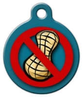 peanut allergy medical alert dog id tag