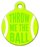 throw me the ball dog id tag