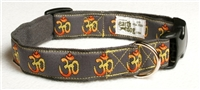 Om hemp dog collar